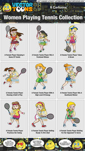 Women Playing Tennis Collection
