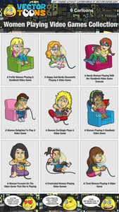 Women Playing Video Games Collection