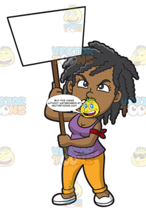 An Angry Black Woman In Protest