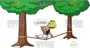 Isabella Attempting To Do A Trick On A Slackline. A Hispanic woman wearing white pants and a gray t-shirt, bending one knee holding her other leg out straight while balancing on an orange slackline