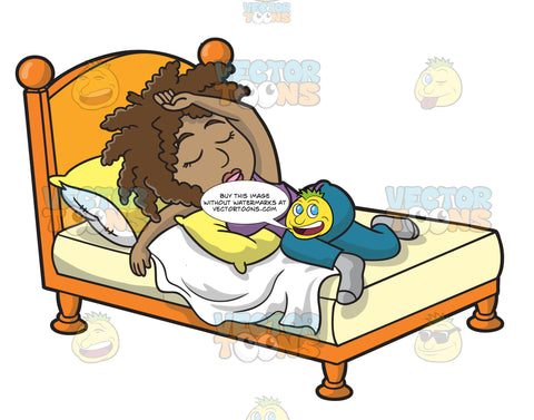 A Black Woman Sleeping Well