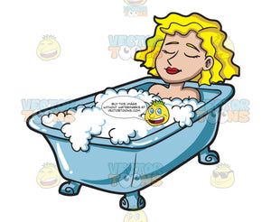 A Woman Relaxing In A Tub