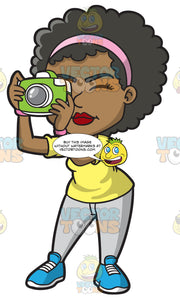 A Black Woman Taking Pictures