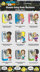 Women Using Bank Machines Collection