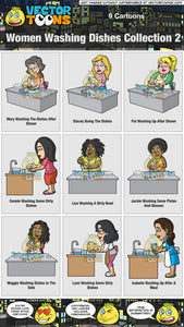 Women Washing Dishes Collection 2