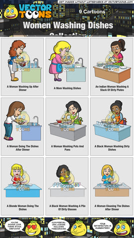 Women Washing Dishes Collection