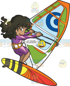 An Indian Female Windsurfer