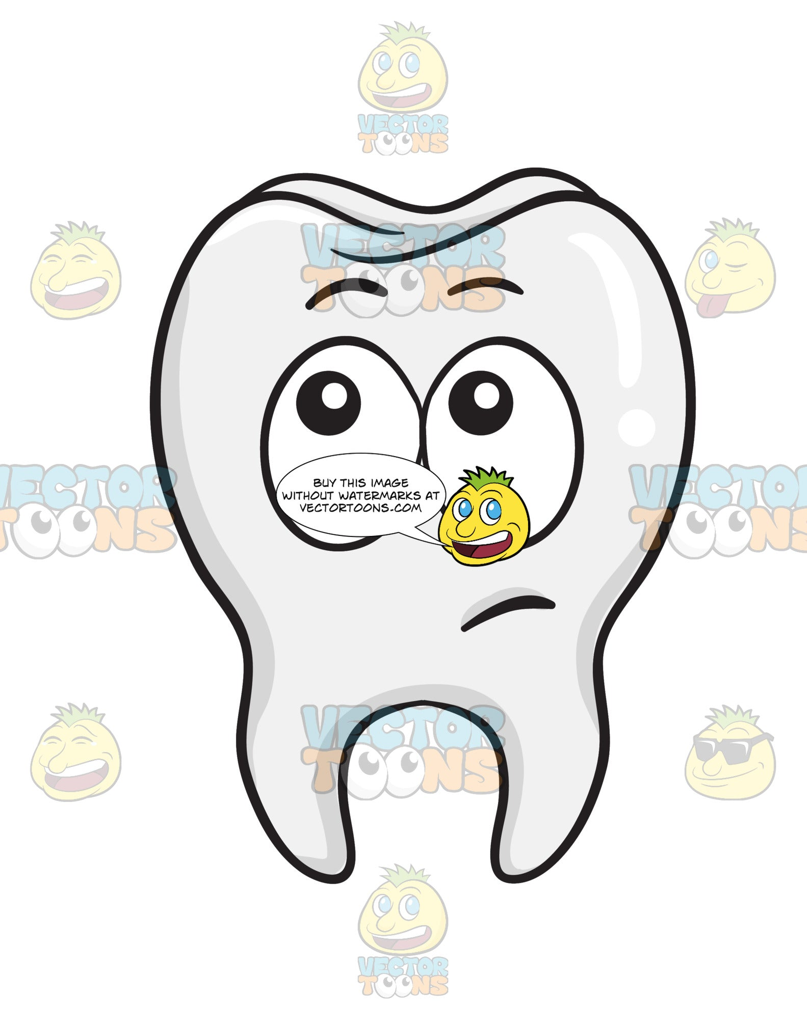 Wondering Look On Tooth
