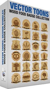 Wood Food Badge Collection