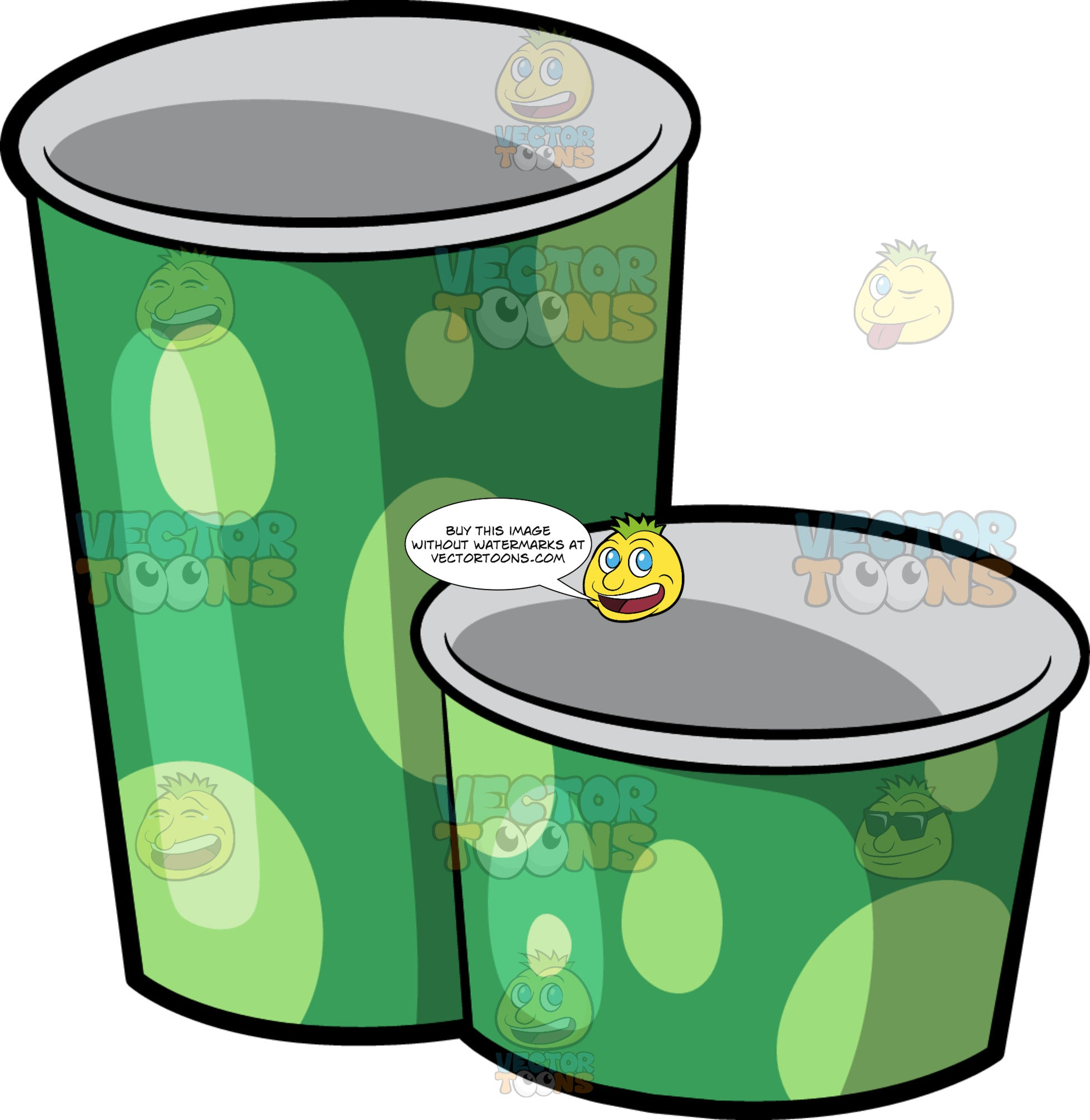 Frozen Yogurt Cups – Clipart Cartoons By VectorToons
