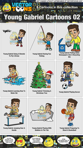 Young Gabriel Cartoons Collection 02
