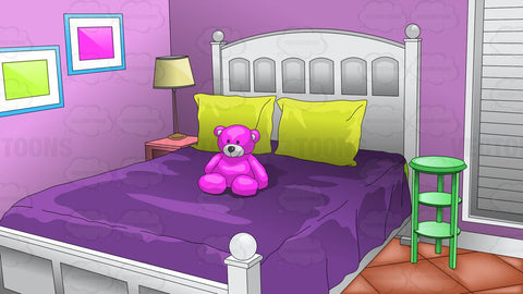 Young Girls Bedroom Background