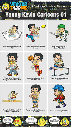 Young Kevin Cartoons Collection 01