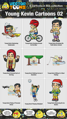Young Kevin Cartoons Collection 02