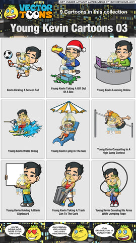 Young Kevin Cartoons Collection 03