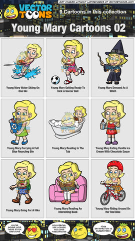Young Mary Cartoons Collection 02