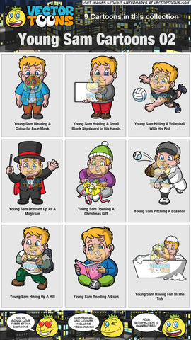 Young Sam Cartoons Collection 02