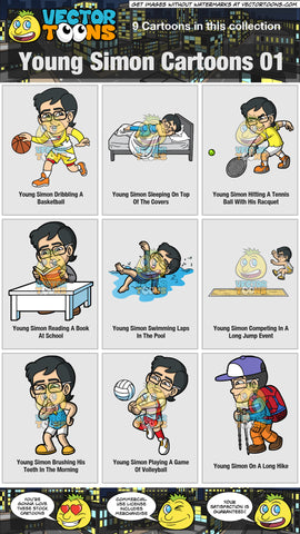 Young Simon Cartoons Collection 01