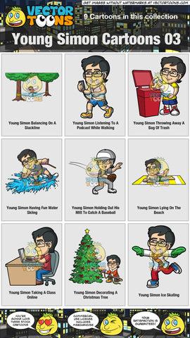 Young Simon Cartoons Collection 03