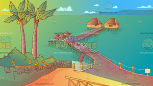 Zanzibar Beach Resort Background