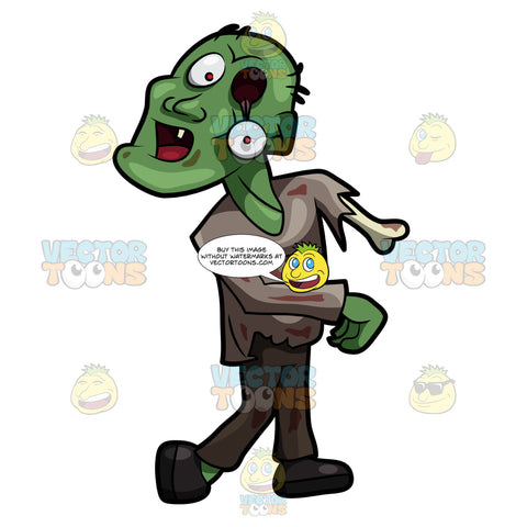 A Lost And Deformed Zombie