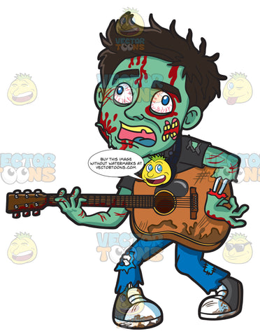 A Guitar Playing Zombie