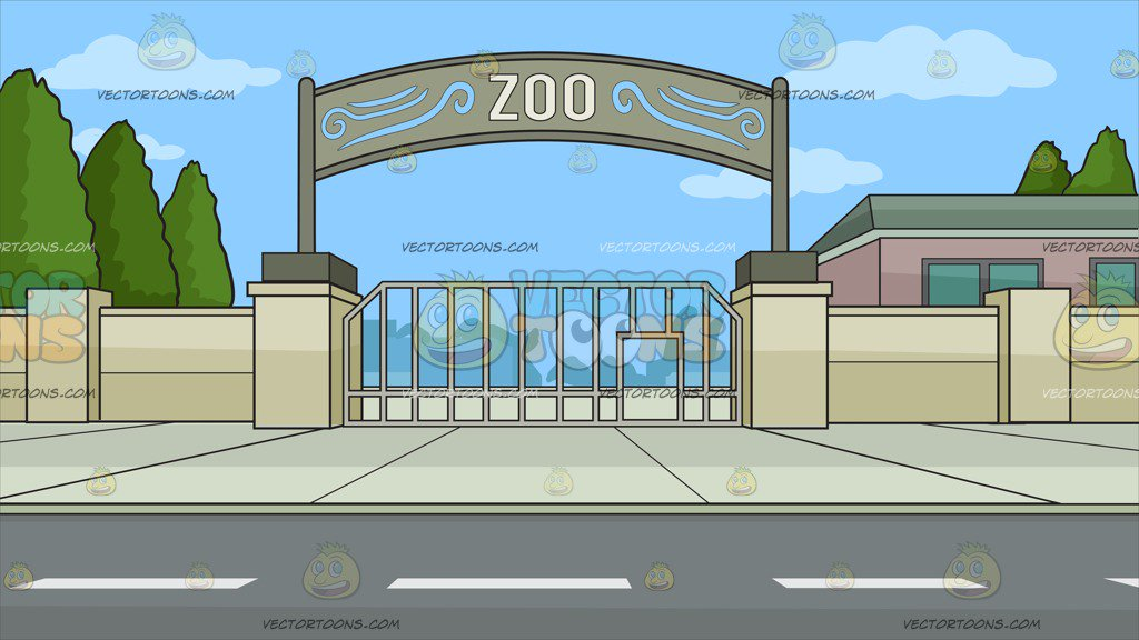 Zoo Entrance Background