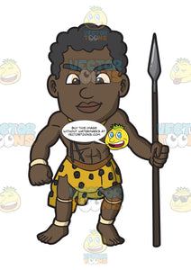 A Muscular Zulu Warrior