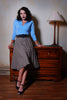 Pinup Couture Vintage Sweater Girl Pullover Jumper in Blue