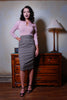 Vintage Inspired Sweater Girl Pullover Jumper in Powder Pink | Pinup Couture