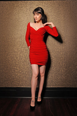 Laura Byrnes | Monica Mini Dress in  Red