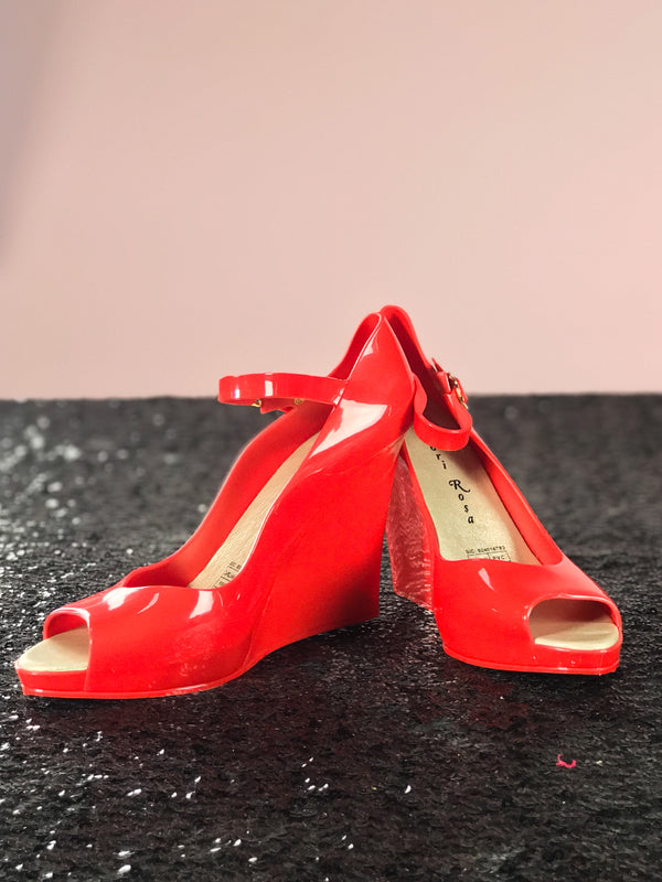 Rosa Wedge Heel in Red
