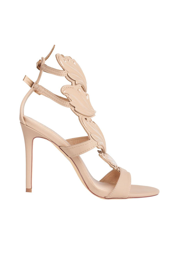 Talaria Heeled Sandals in Nude