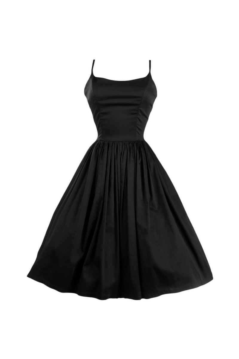 Jenny Retro Dress in Black