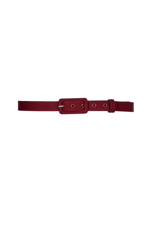 3/4 Inch Grommet Belt in Wine Sateen
