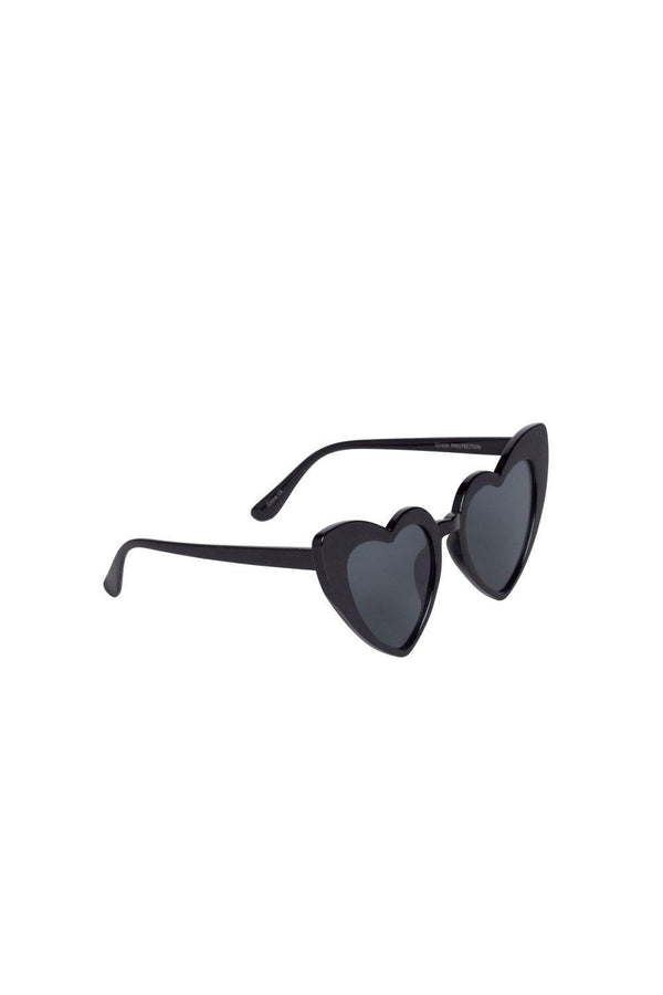 Heart Eyes Pinup Girl Sunglasses in Black