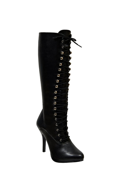 a7bc631a71c Arena Lace Up Knee High Boot in Black