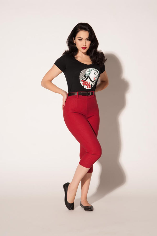 Women's What Would Wanda Do? T-Shirt in Black by Traci Lords