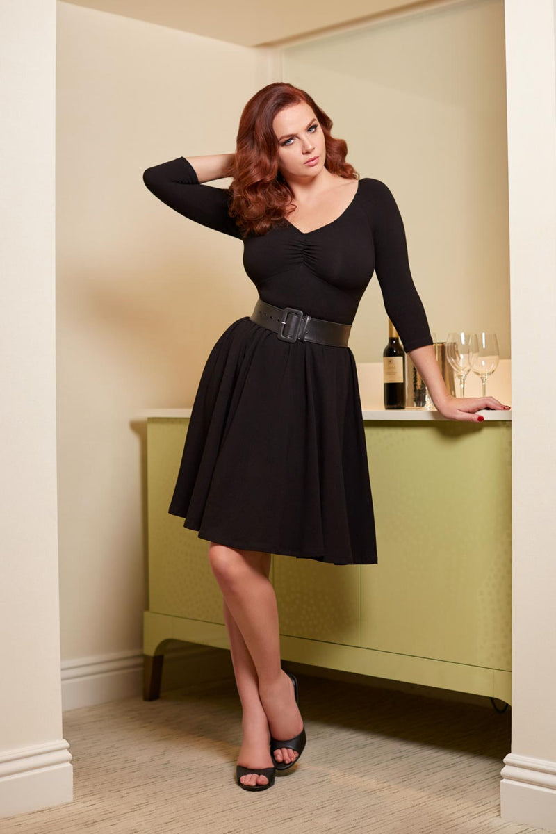 Kayla Swing Dress in Black
