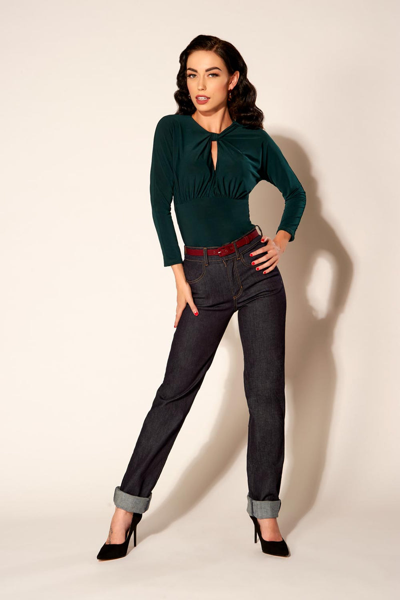 Love Your Body - Premium Stretch Denim Boyfriend 4-Pocket Jeans by Laura Byrnes