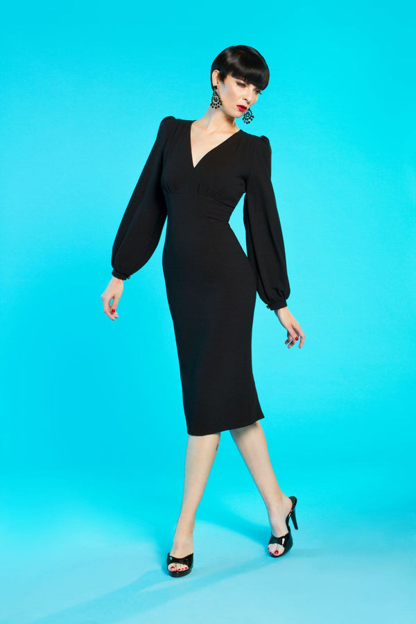 Rachel Dress in Black by Traci Lords