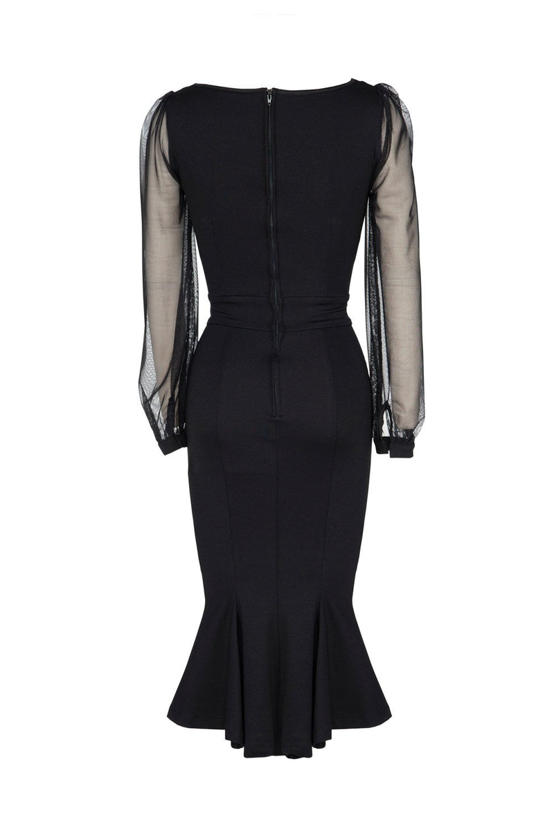 Mila Dress in Black Ponte by Elvira Mistress of the Dark