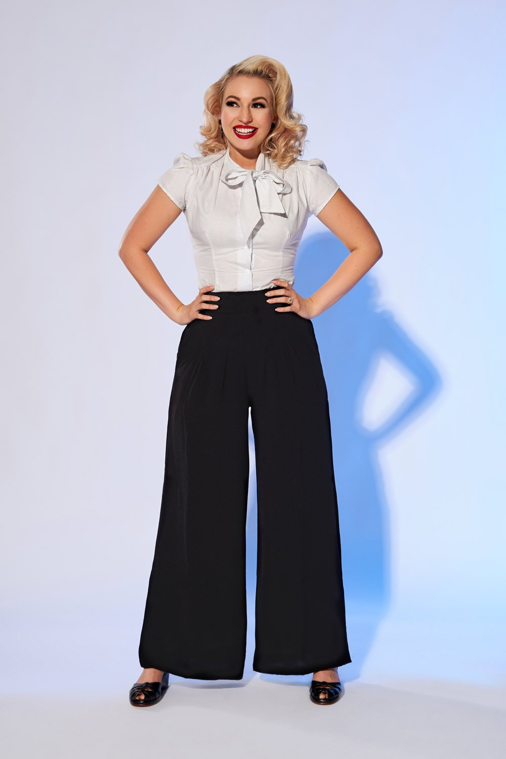 Pinup Girl Clothing Vintage Style Dietrich Pants In Black With 30 Inseam Pinupgirlclothing Com