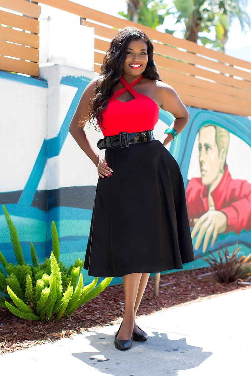 Pinup Couture Doris Skirt in Black