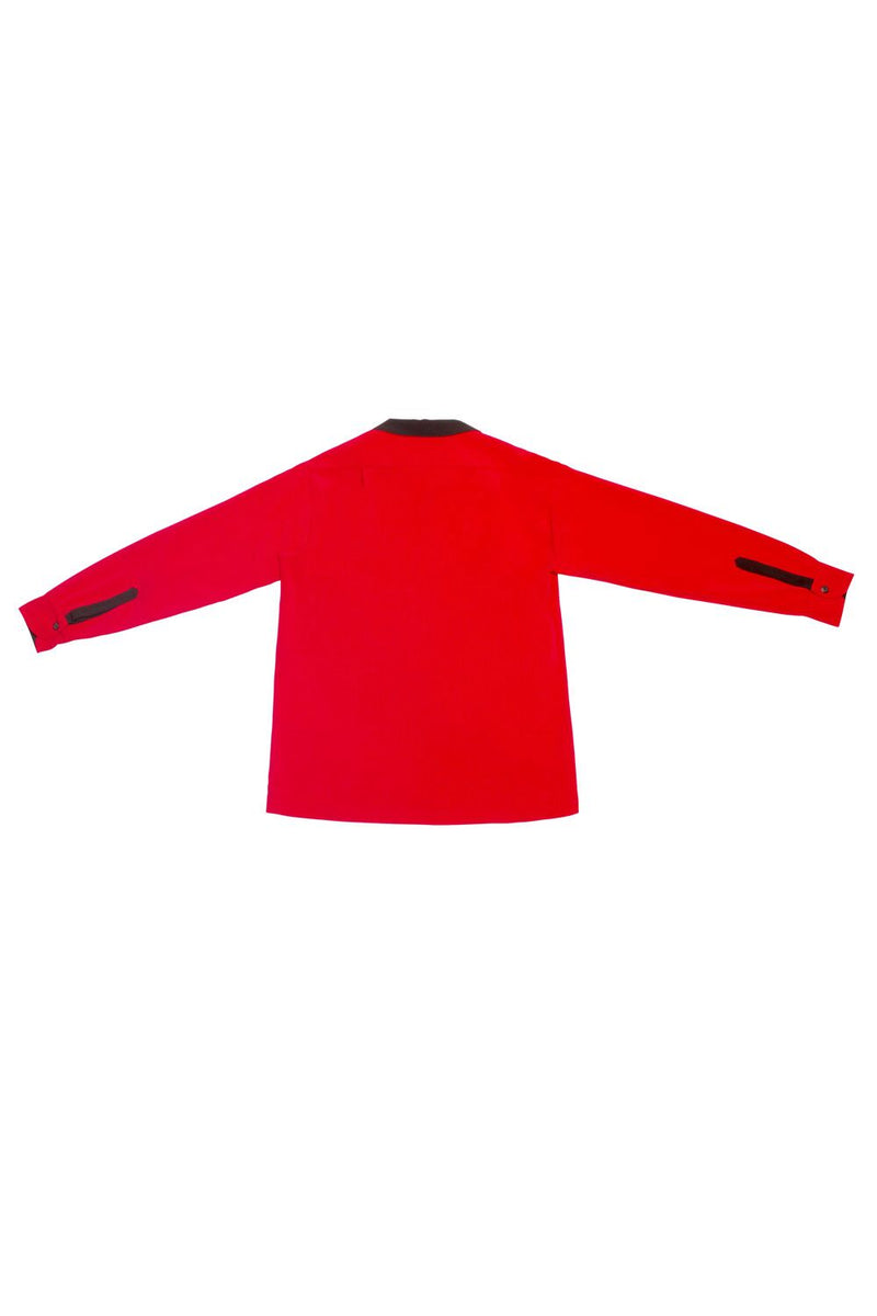 Charles Phoenix for Couture for Every Body Men's New Yorker Shirt in Red with Black Contrast