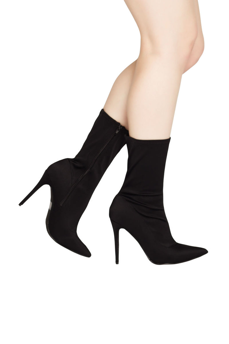 Night Owl Mid Ankle Boot in Black