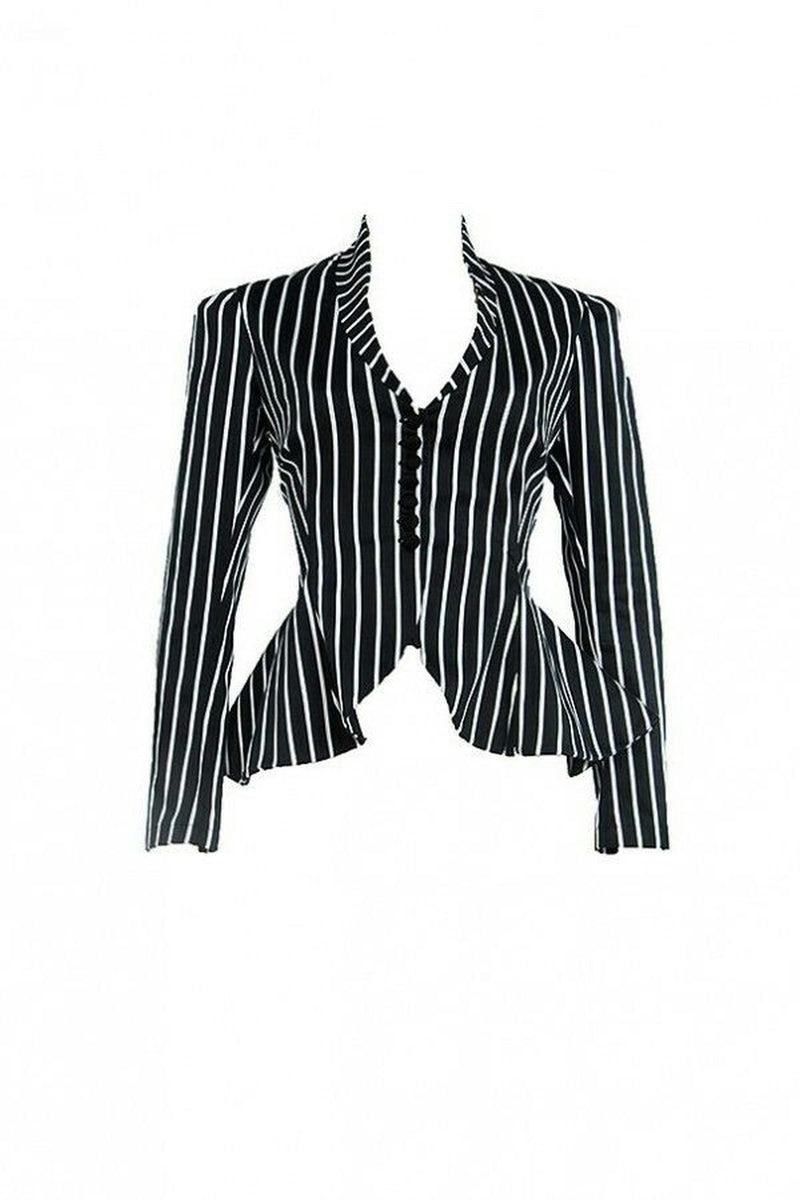 Laura Byrnes Morgana Jacket in Victorian Stripe