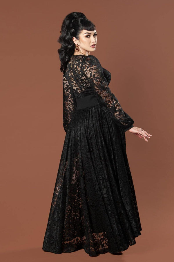 Bisou Lace Robe Wrap Dress by Elvira for Couture for Every Body