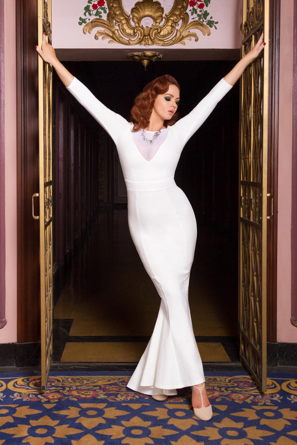 Elvira Gown in Ivory Ponte by Elvira Mistress of the Dark