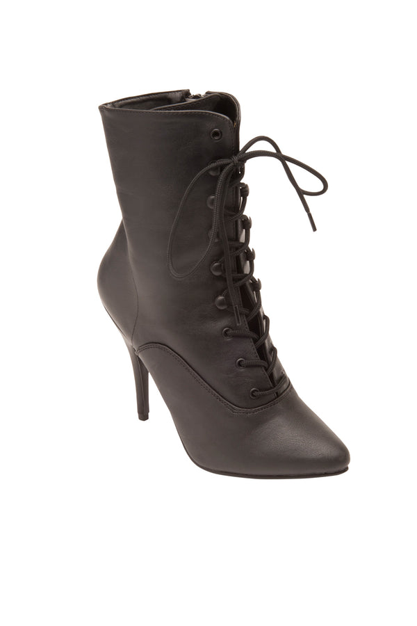 Seduce Lace Up Ankle Boot